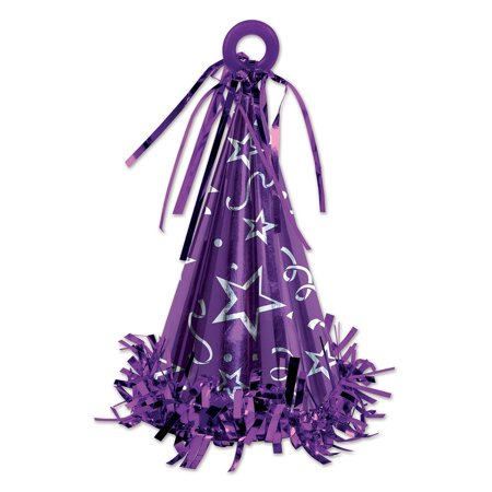 Club Pack of 12 Purple Party Hat Balloon Weight Decorative Birthday Centerpieces 6 - Top Hat Centerpiece