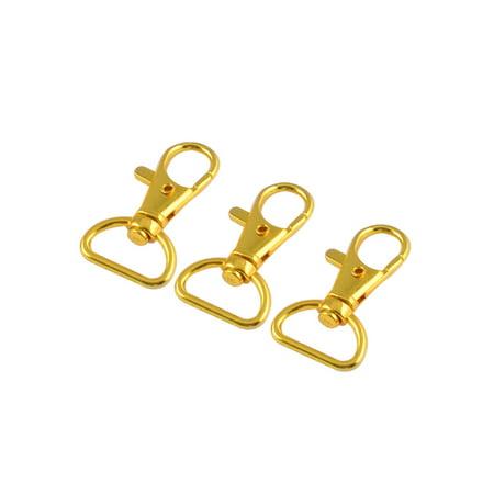3 Pcs Metal Lobster Clasp Keychain Swivel Trigger Hook Belt Clip Gold Tone (Keychain Belt Clip)