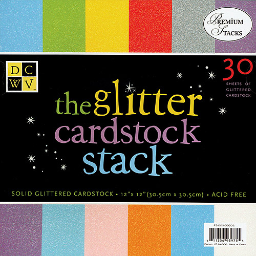 Glitter Paper Stack 12X12 30 Sheets/Pad