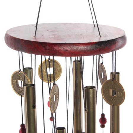 Large Wind Chime Yard Garden Outdoor Noisemaker Home Decoration Windchime Bells Pavilion Copper Coin