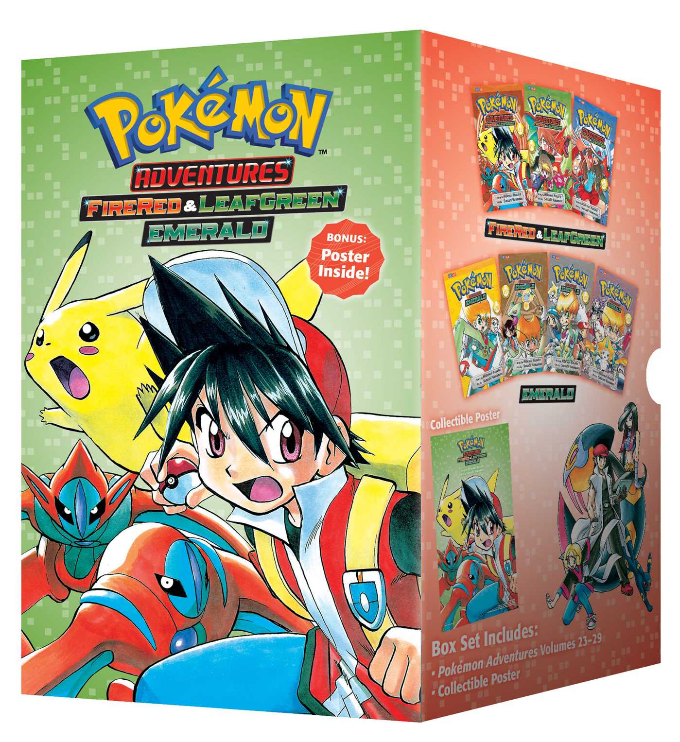 Pokémon Adventures Fire Red & Leaf Green / Emerald Box Set : Includes Volumes 23-29