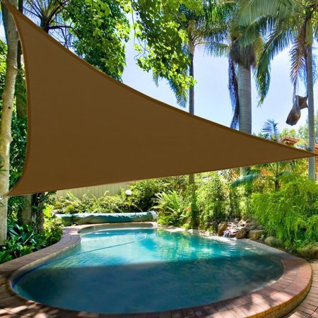 (New Premium Clevr Sun Shade Canopy Sail 12' / 18' Triangle UV Outdoor Patio)