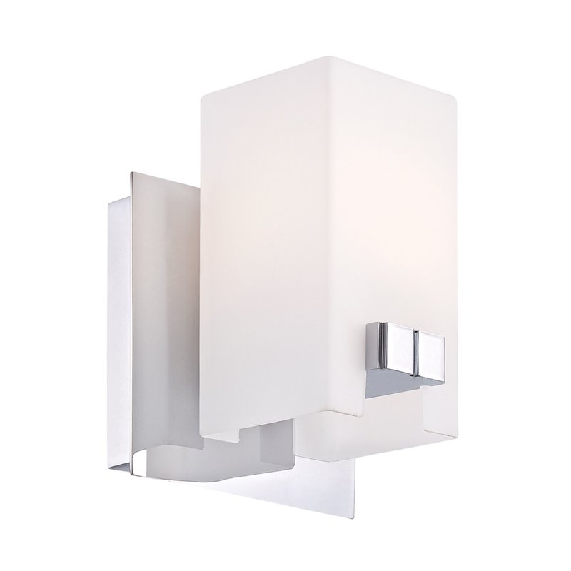 ALICO Gemelo Vanity Light in Chrome and White Opal Glass