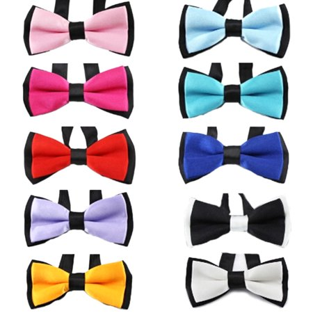 TOPTIE Baby Boys Girls Dog Bow Ties Pet Bowties Collar for Party Grooming Accessories-Set I
