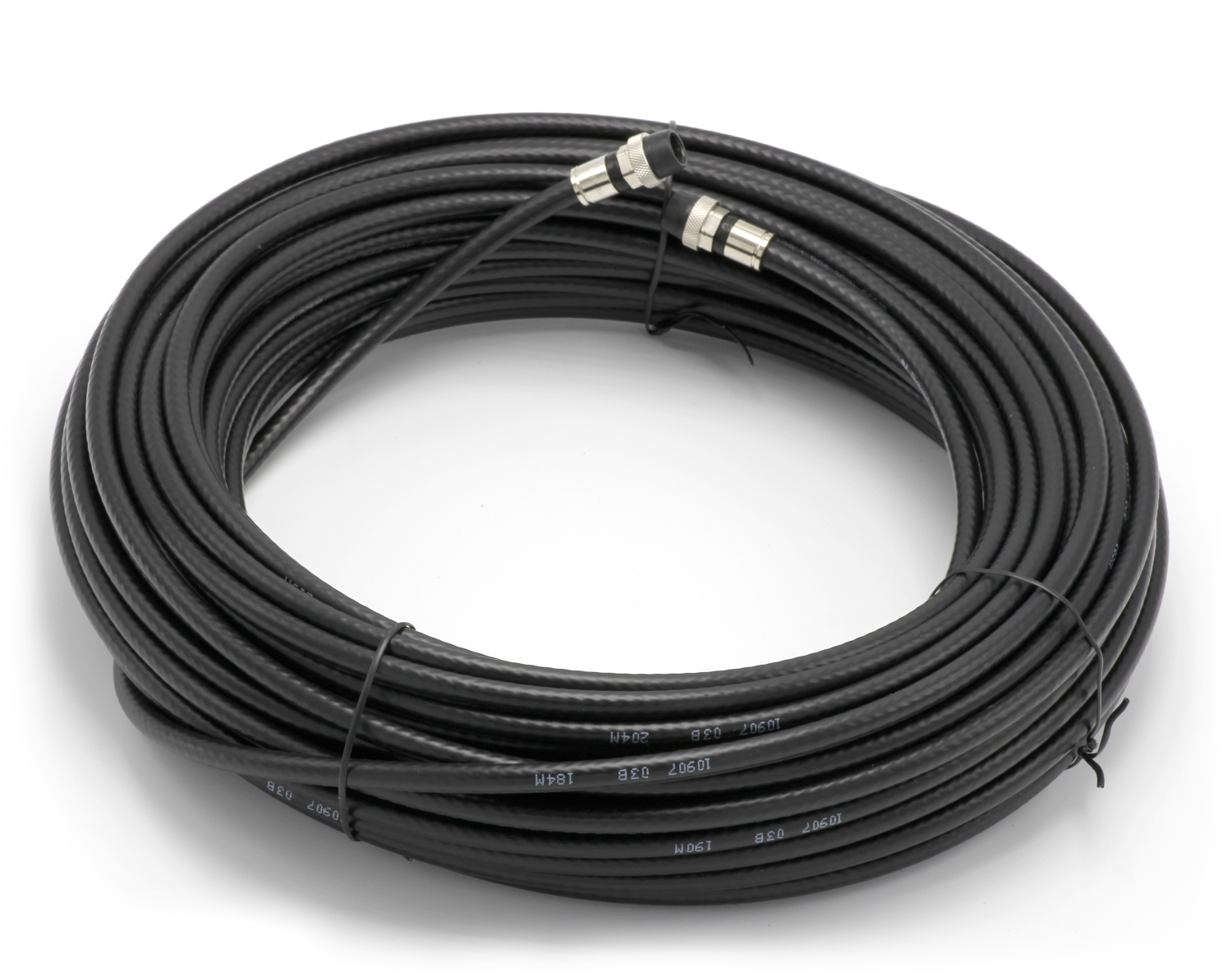 100 Feet Black Rg6 Coaxial Cable Coax Made In The Usa