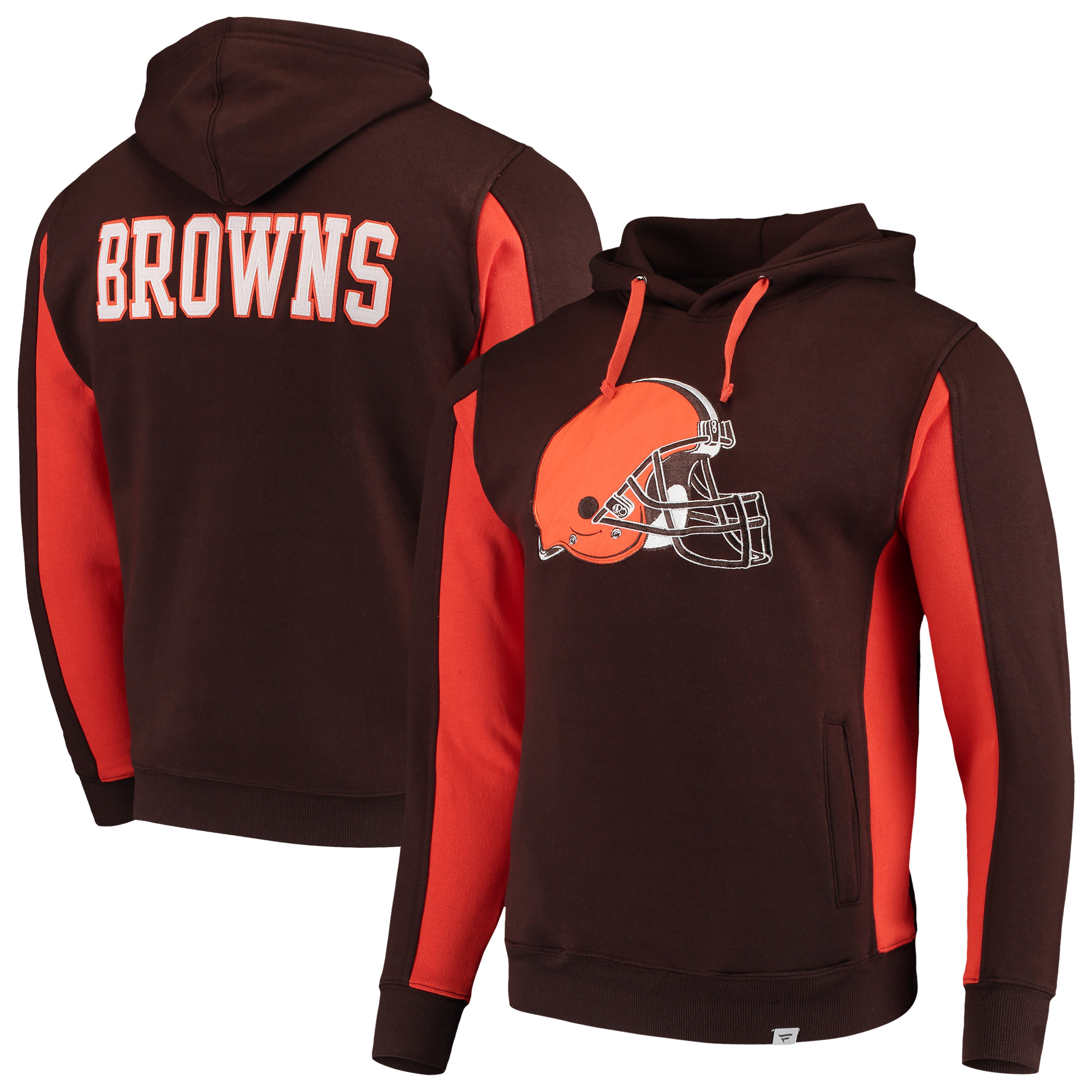 Cleveland Browns NFL Pro Line by Fanatics Branded Team Iconic Pullover Hoodie - Brown
