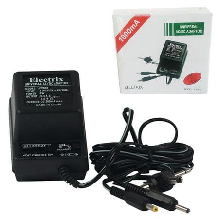 Universal AC DC Power Adapter Output 1.5-3-4.5-6-7.5-9-12 V 1000 mA 220V 50 Hz ()