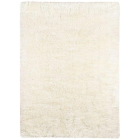 AMER Cream Shag Area Rug 8'x11' ()