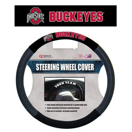 - NCAA Ohio State Buckeyes Poly-Suede Steering Wheel Cover