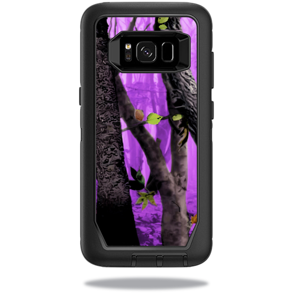 MightySkins Protective Vinyl Skin Decal for OtterBox DefenderSamsung Galaxy S8 Case sticker wrap cover sticker skins Purple Tree Camo