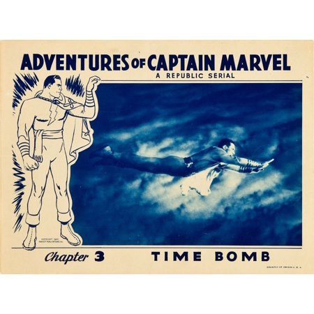 The Adventures Of Captain Marvel Tom Tyler In Chapter 3 Time Bomb Lobbycard 1941 Movie Poster Masterprint