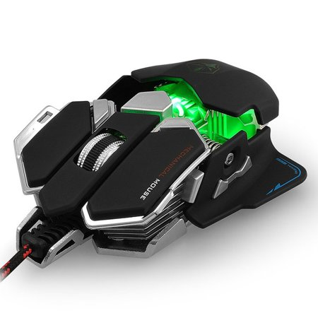 8e22f1710ae VicTsing Mechanical Gaming Mouse 4000 DPI Adjustable Optical Multiple Color  Professional USB Wired Mouse (Black) - Walmart.com