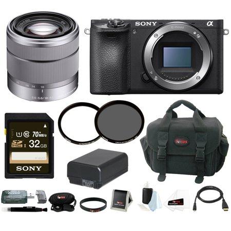 Sony a6500 Mirrorless Camera w/ 18-55mm Lens + 32GB Accessory Bundle