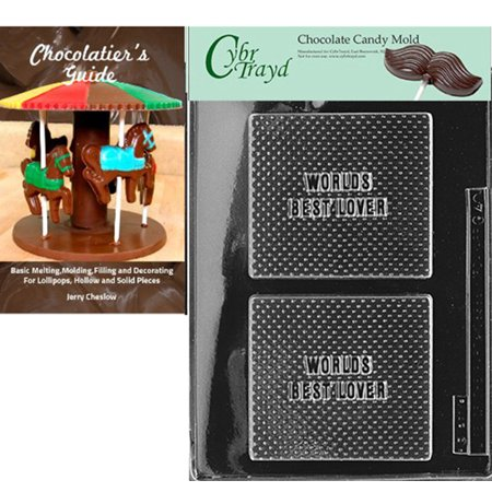 Cybrtrayd World's Best Lover Chocolate Candy Mold with Our Chocolatier's Guide Instructions