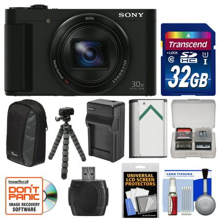 Sony Cyber-Shot DSC-HX90V Wi-Fi GPS Digital Camera with 32GB Card + Battery + Charger + Case + Flex Tripod + Kit