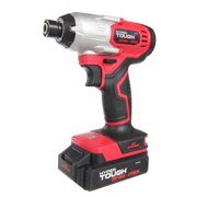 Hyper Tough 20V Max Lithium-ion Cordless Impact Driver, 1/4 inch Quick Release Chuck with 1.5Ah Lithium-ion Battery & Charger, Bit Holder & LED Light