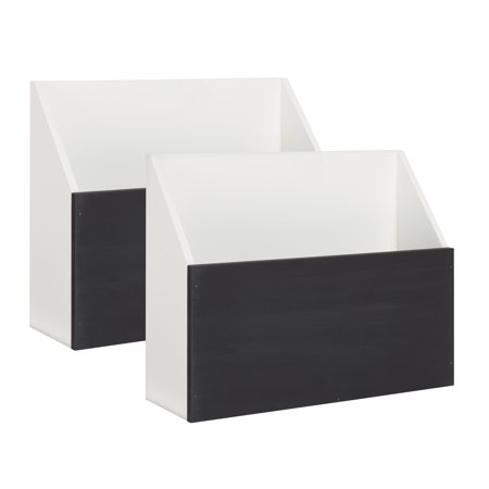 Kate And Laurel Benbrook Wall Pocket Shelves White With Chalkboard Front Panel Set Of 2