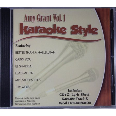 - Amy Grant Volume 1 Daywind Christian Karaoke Style NEW CD+G 6 Songs