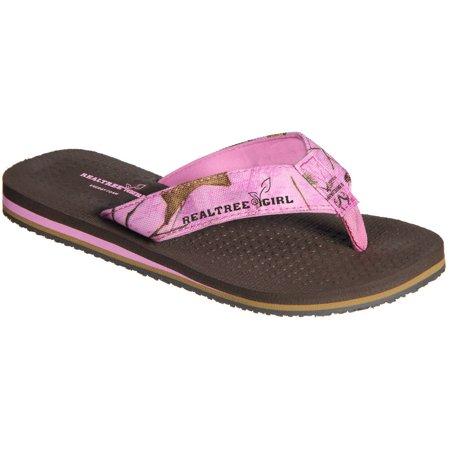 Realtree Girl Ms  Bay Women Authentic Slip On Design  Thong Sandal Lavender