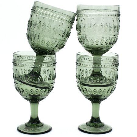 Turquoise Wine - Euro Ceramica Inc. Euro Ceramica Fez 12-ounce Wine Goblets (Set of 4)