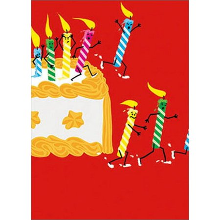 Avanti Press Running Birthday Candles A Glitter Card