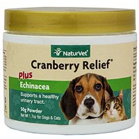 NaturVet  Cranberry Relief Plus Echinacea  Helps Support a Healthy Urinary Tract & Immune System  50g Powder
