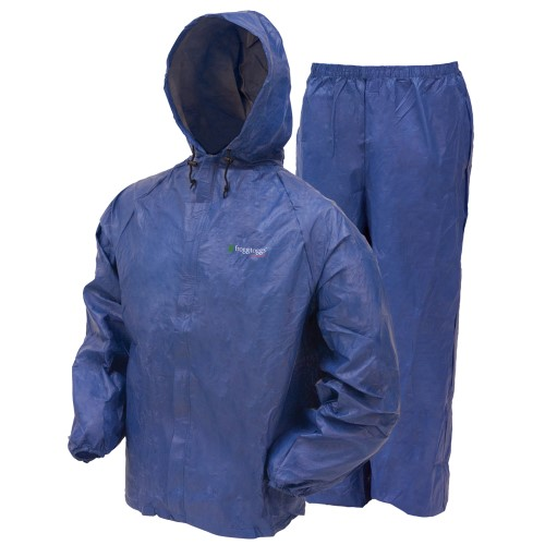 Frogg Toggs Ultra Lite Rain Suit Blue Large UL12104-12LG w Cloth by Frogg Toggs