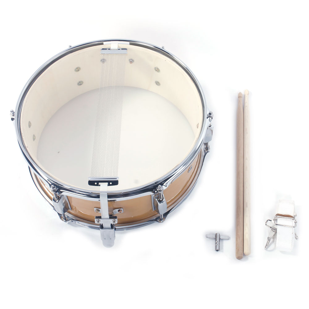 Ktaxon 14x5.5 Inch Professional Snare Drum Drumsticks Drum Key Strap Set Burlywood by