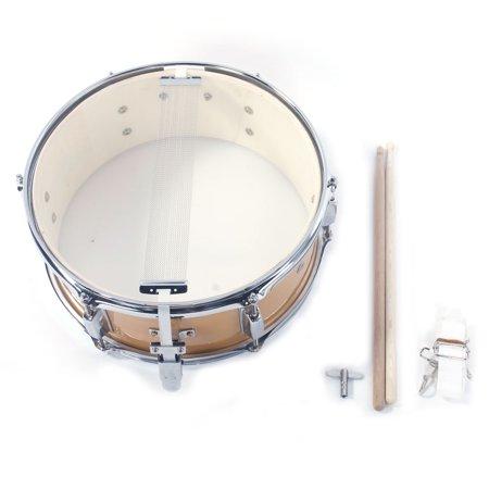 ktaxon 14x5 5 inch professional snare drum drumsticks drum key strap set burlywood. Black Bedroom Furniture Sets. Home Design Ideas