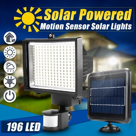 Image of Solar Powered Motion Sensor Light, 196 LED Solar solar powered gadgets Security Light Flood Lamp Spot Light for Garden Patio Path Pool Lighting Waterproof