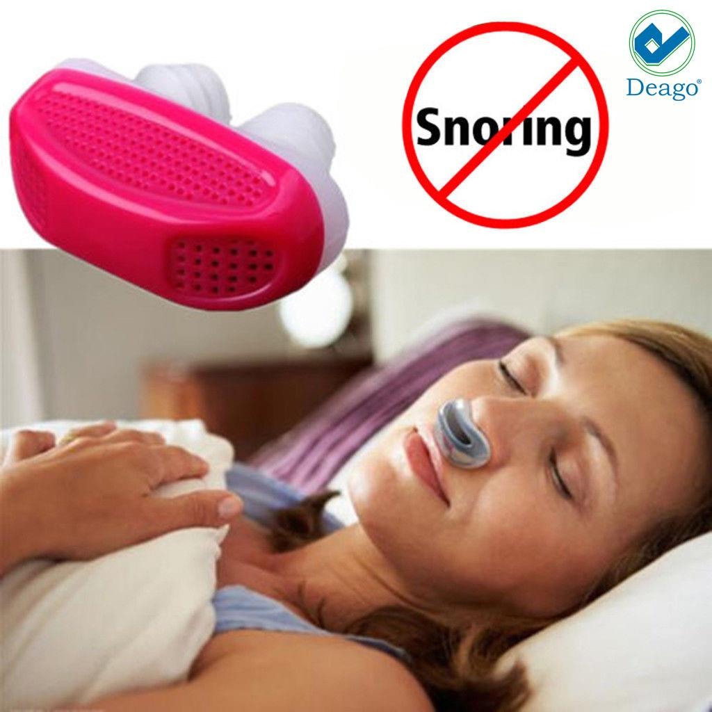 Deago-Stop Snoring Anti Snore Nose Apnea Guard Care Sleep Aid Device Relieve Snoring Red