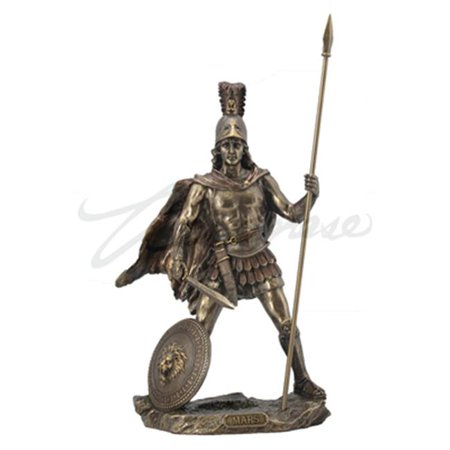 Unicorn Studios WU76021A4 Mars - Roman God of War with Spear Figurine, Bronze - Roman Spear