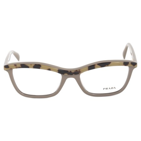 Valentino Optical Frames - Prada PR 17PV MA61O154 Taupe Cateye Optical Frames