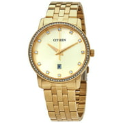 Citizen Men's BI5032-56P Quartz Gold Tone 3-Hand Crystal Accented Watch