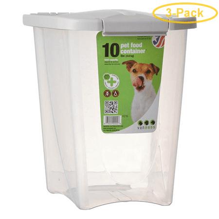 Van Ness Pet Food Container 10 lbs - Pack of 3