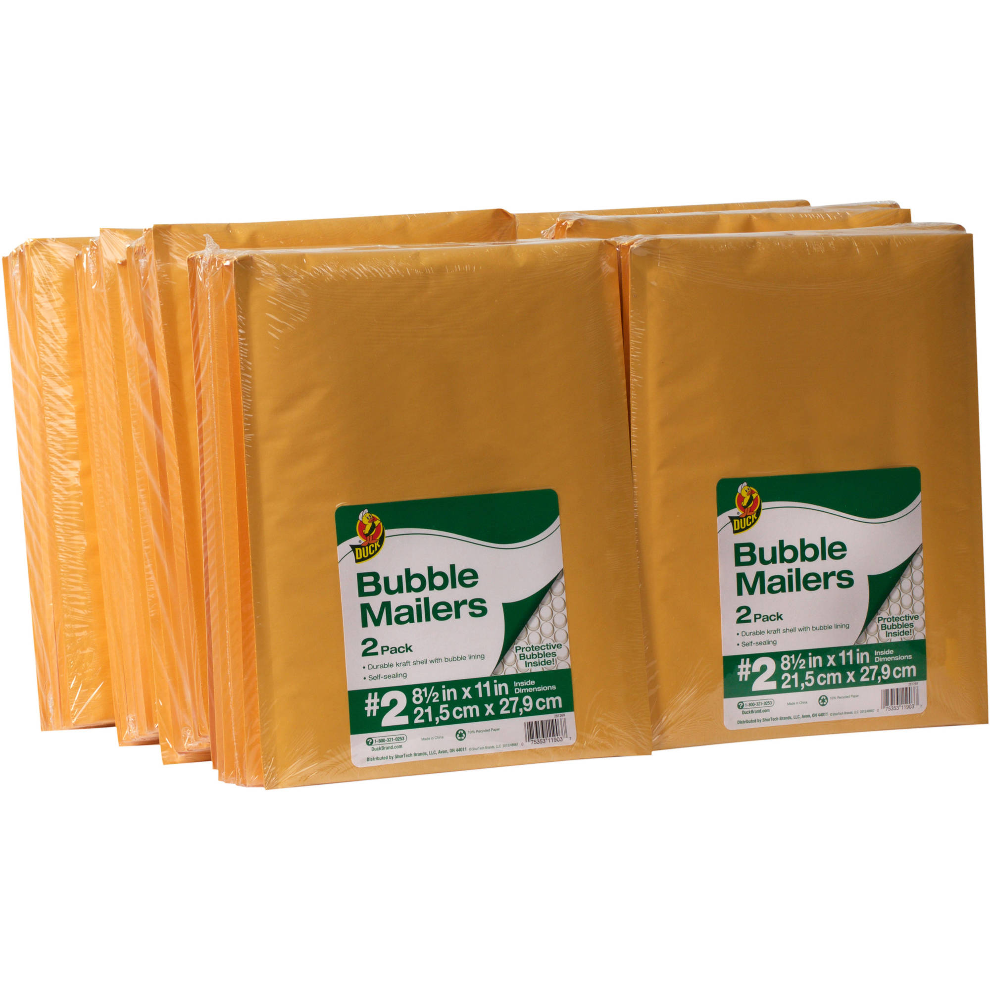 "Duck Brand Kraft Bubble Mailers, Manila, 96-Count, 8.5"" x 11"""