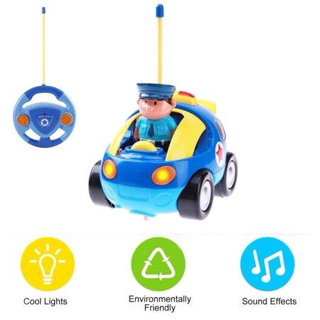 Kids Remote Control Car Rc Cartoon Race Car Vehicle With Pull Back Sound And Flashlight Car Toys Radio Control For 1 Year Old Up Boy Birthday