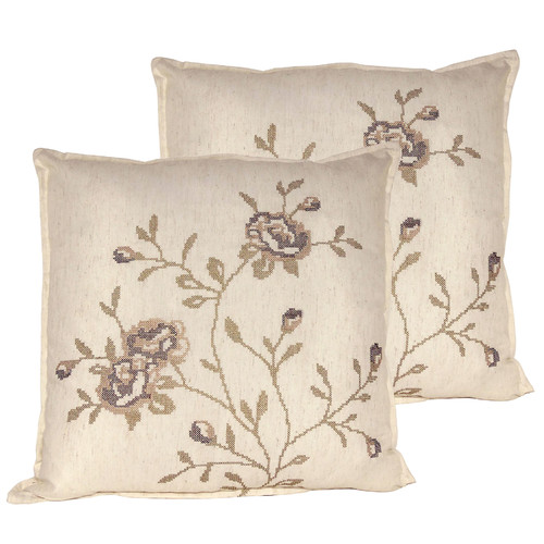 Serenta Rose Throw Pillow (Set of 2)