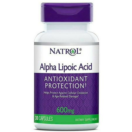 Natrol Alpha Lipoic Acid 600 mg Capsules 30 ea (Pack of (Natrol Ultimate Antioxidant)