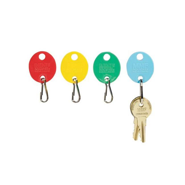 Snap-Hook Colored Oval Key Tags Green by TotalTools
