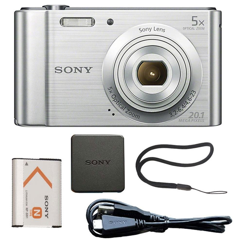 Sony Cyber-shot DSC-W800 20.1MP Digital Camera 5x Optical Zoom Silver