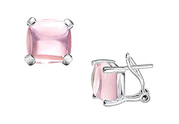 Pink Chalcedony Earrings 14K White Gold 10.00 CT TGW by Love Bright