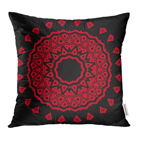 Hand Colored Floral Art - ARHOME Floral Geometric Pattern with Hand Drawing Mandala Super Bandana Scarg Colored Pillow Case Pillow Cover 20x20 inch Throw Pillow Covers
