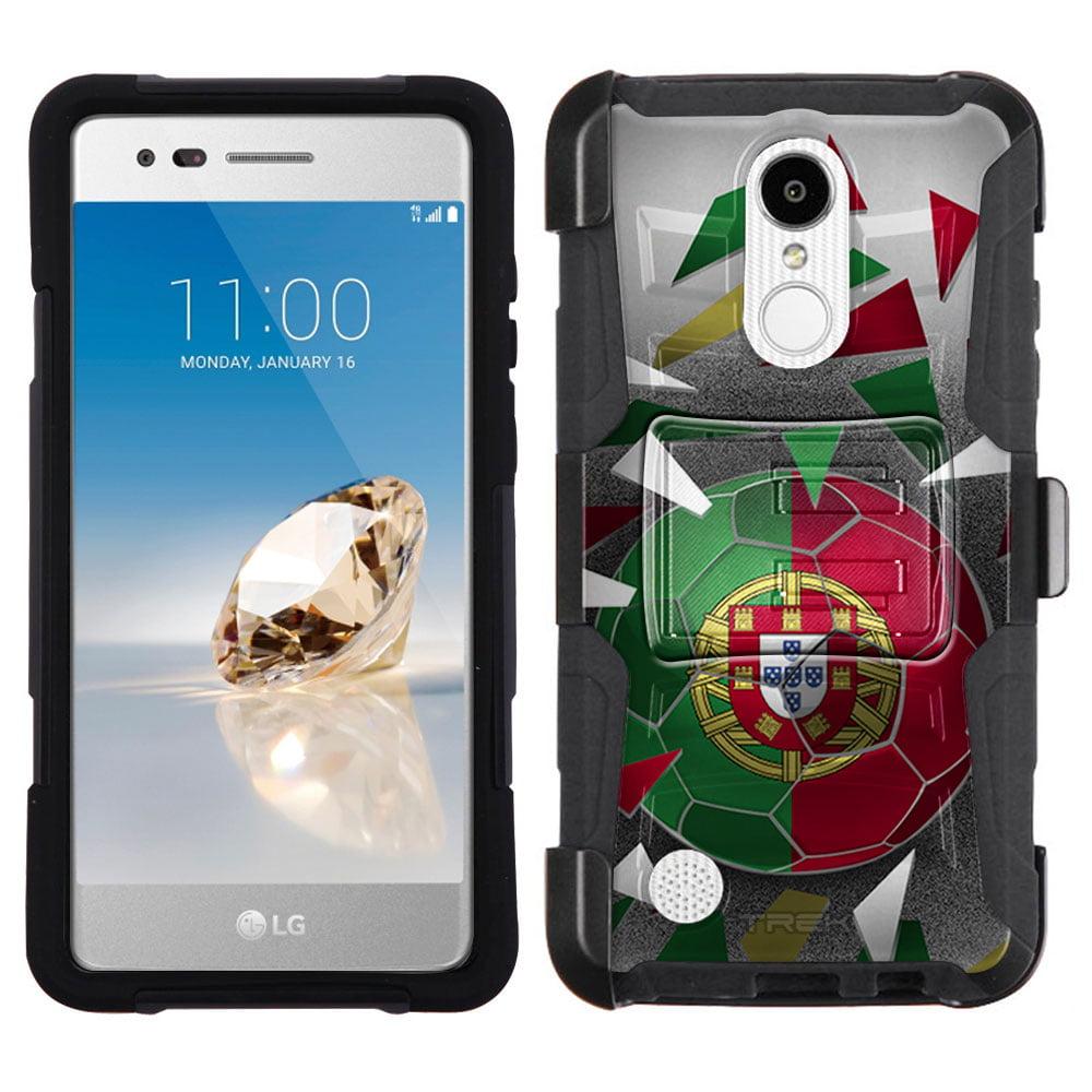LG Aristo Armor Hybrid Case Soccer Ball Portugal Flag by Trek Media Group