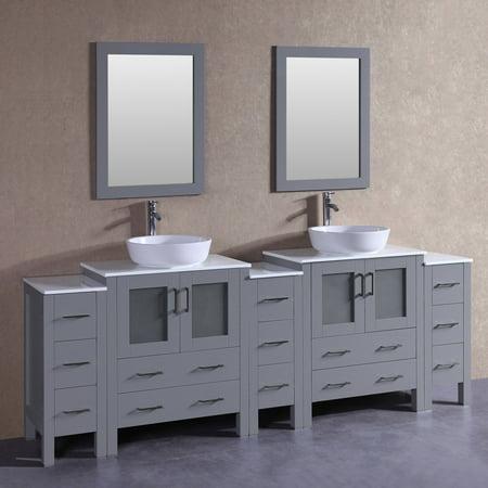 96 Bosconi AGR230BWLPS3S Double Vanity