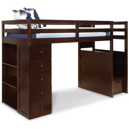 Loft Bed With Drawers And Shelves