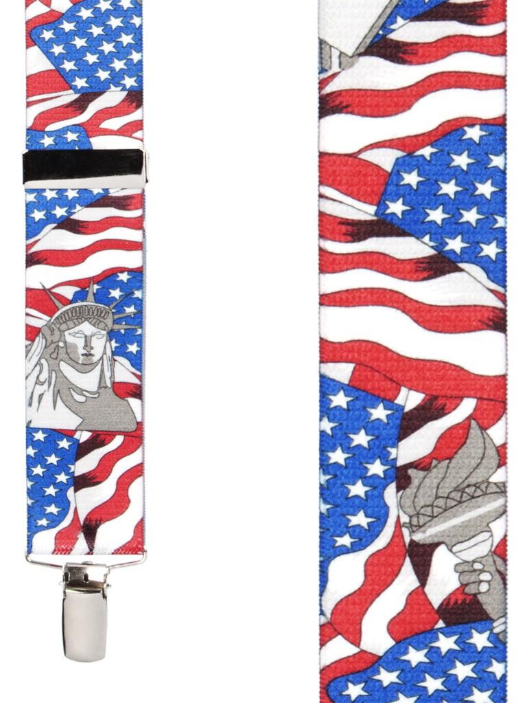 SuspenderStore Mens USA Liberty Suspenders Clip 1.5 Inch Wide