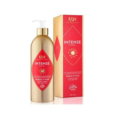 Fair and White Intense Power Silky Brightening Lotion Perfect Tone with Argan Oil