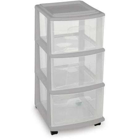 Mainstays Medium 3 Drawer Cart