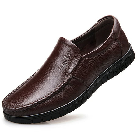 fashion men's genuine leather soft business casual shoes
